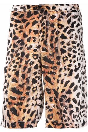 Endless Joy Leopard-print straight-leg shorts
