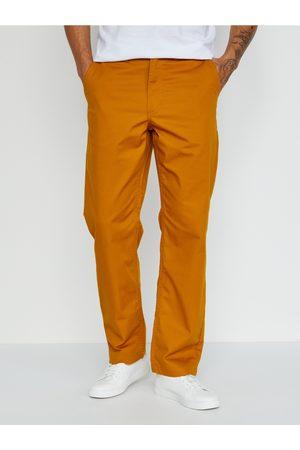 Vans Muži Rovné nohavice - Oranžové pánské straight fit kalhoty Authentic