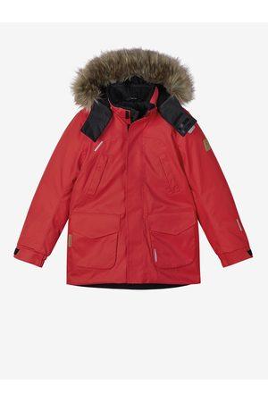 Reima Červená dětská zimní bunda s kapucí