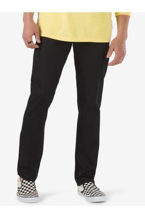 Vans Muži Rovné nohavice - Černé pánské straight fit kalhoty Authentic