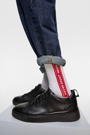 Zara žakárové ponožky s nápisem