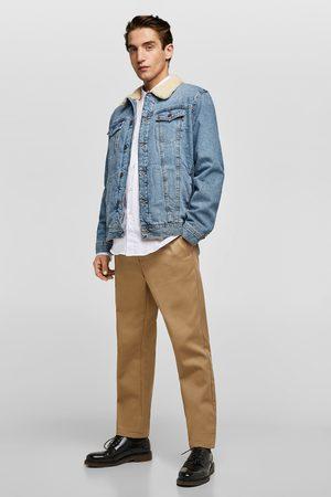 Zara Džínová bunda s umělým beránkem