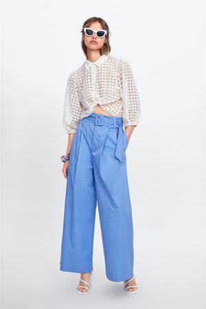 Zara široké kalhoty s páskem