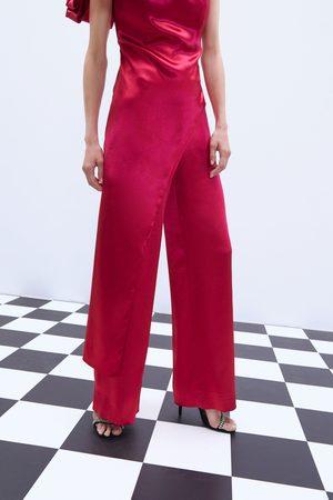 Zara široké kalhoty se saténovým efektem limitovaná edice