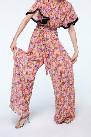 Zara široké kalhoty s potiskem