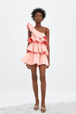 Zara Asymetrické šaty s volány limitovaná edice