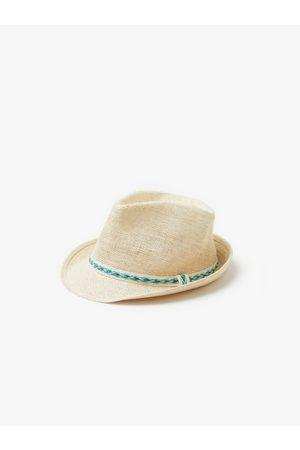 Zara Slaměný klobouk s tkanou stuhou