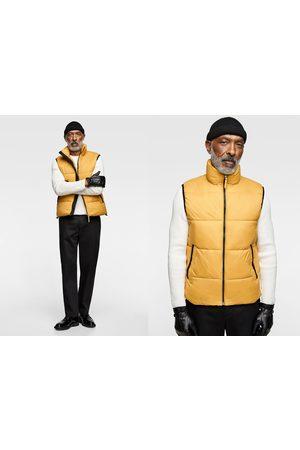 Zara Prošívaná kombinovaná vesta s lemovanými švy
