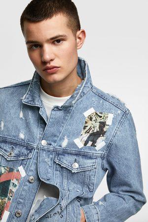Zara Džínová bunda s fotografickým potiskem