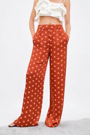 Zara široké kalhoty se s puntíky limitovaná edice