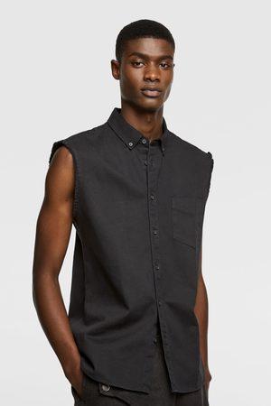 Zara Džínová košile bez rukávů