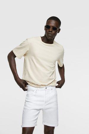 Zara Muži Džíny - Barevné džínové bermudy
