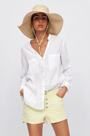Zara Džínové šortky s asymetrickým spodním lemem