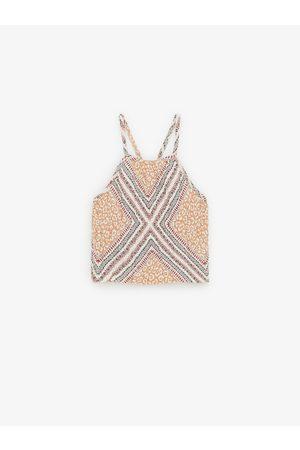 Zara Top s texturou a šátkovým potiskem