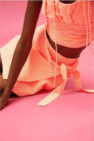 Zara šortková sukně s kostkou vichy