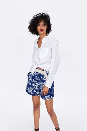 Zara Bermudy s potiskem a páskem