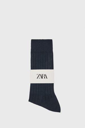 Zara Muži Ponožky - žebrované ponožky z mercerizované bavlny premium