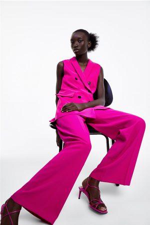 Zara Ženy Široké nohavice - široké splývavé kalhoty