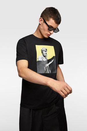 Zara Tričko s kontrastním potiskem