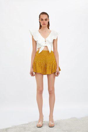 Zara Ženy Kraťasové - šortková sukně s potiskem