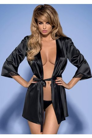 Obsessive Župan Satinia robe black L/XL