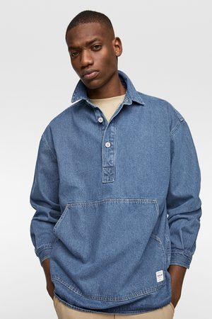 Zara Muži Džínové košile - Džínová svrchní košile