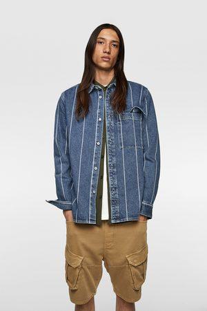 Zara Pruhovaná džínová svrchní košile