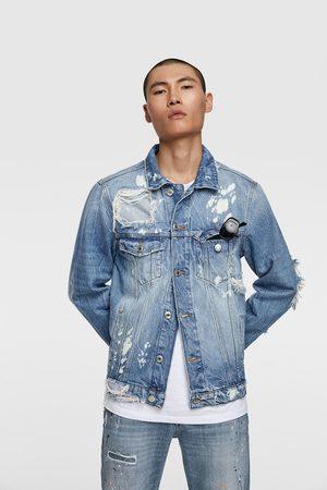 Zara Džínová bunda s nášivkami