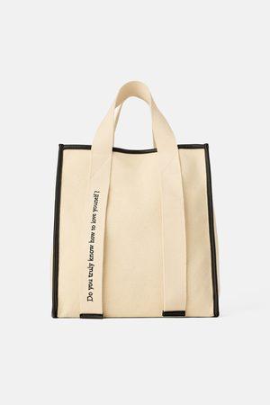 Zara Plátěná kabelka shopper join life
