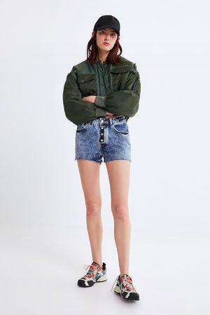 Zara Džínové šortky s knoflíky