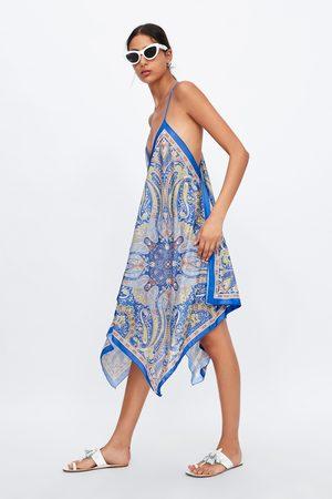 Zara Asymetrické šaty s potiskem