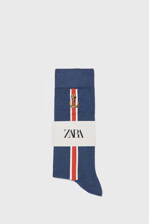 Zara Ponožky z mercerizované bavlny s námořnickým vzorem