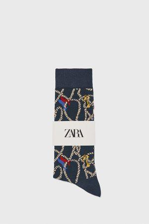 Zara Ponožky z mercerizované bavlny s námořnickým žakárem