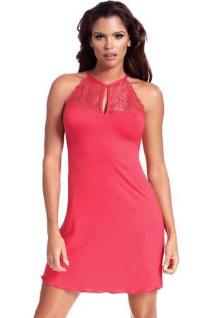 Hamana Ženy Tepláky na spaní - Dámská noční košilka Grace korálová korálová S
