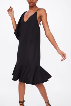 Zara Ženy Asymetrické - Asymetrické šaty s volánem