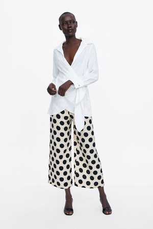 Zara široké kalhoty s puntíky