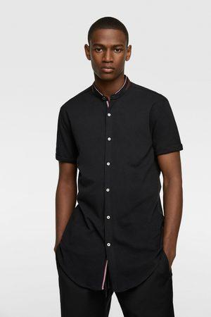 Zara Kombinovaná košile z piké