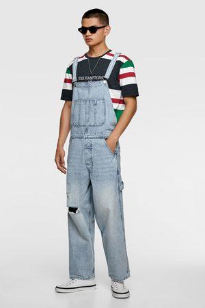 Zara Džínové kalhoty s laclem vintage