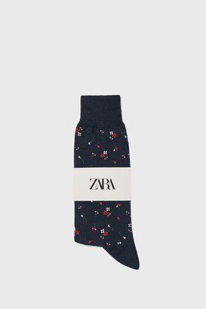 Zara Muži Ponožky - Ponožky z mercerizované bavlny s květinovým žakárem