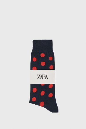 Zara Ponožky z mercerizované bavlny s puntíkovaným žakárem