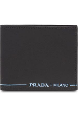 Prada Logo print flap wallet