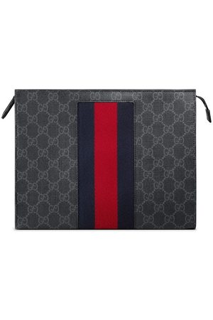 Gucci GG Supreme Web cosmetic case