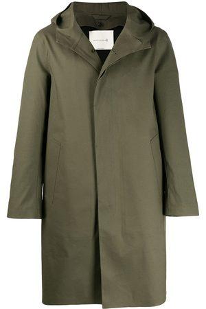 MACKINTOSH CHRYSTON Grape Leaf Bonded Cotton Hooded Coat | GR-1003D