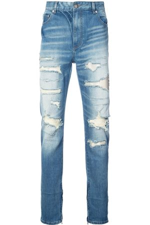 God's Masterful Children Ripped straight-leg jeans