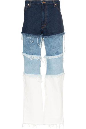 DUO Distressed patchwork jeans