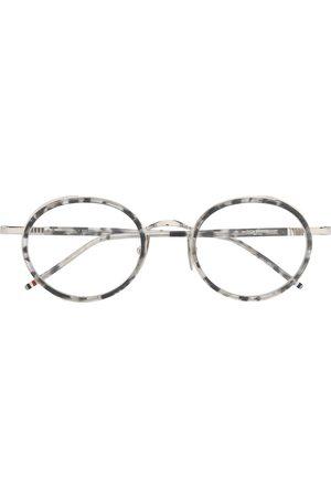 Thom Browne Sluneční brýle - TB813 tortoiseshell round-frame glasses