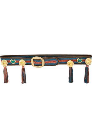 Yves Saint Laurent 1980's medallion tassel belt