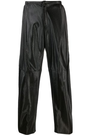 Walter Van Beirendonck Pre-Owned Muži Kožené kalhoty - 2009/10's Glow faux leather trousers