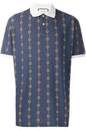 Gucci Horsebit chain print oversized polo shirt