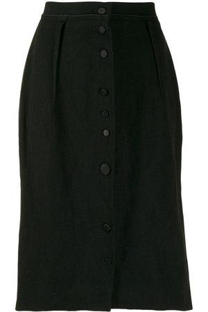 Lanvin 2005s slim buttoned skirt